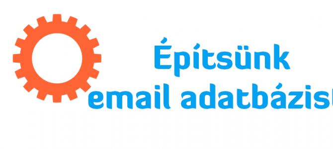 Építsünk email adatbázist